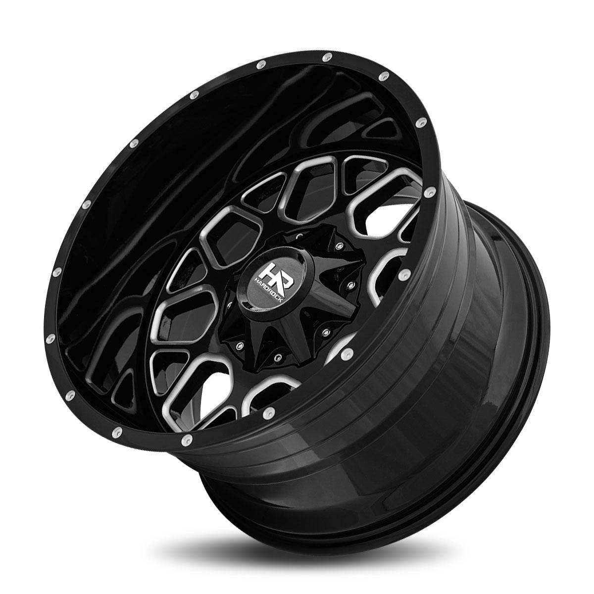 Hardrock Offroad H705 20x12 Gloss Black Milled