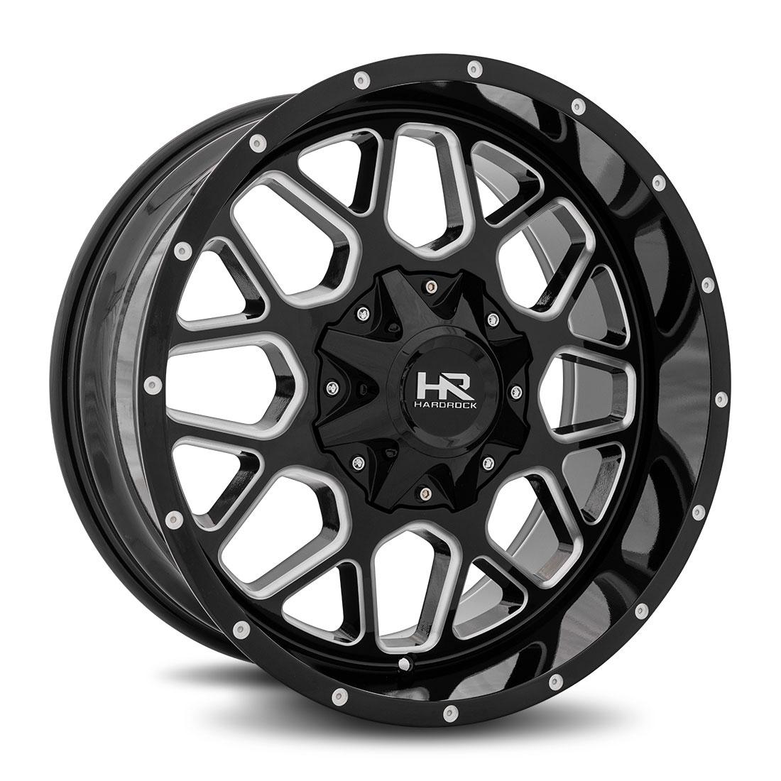 Hardrock Offroad Wheels H705 Gunner - Gloss Black Milled - 20x9