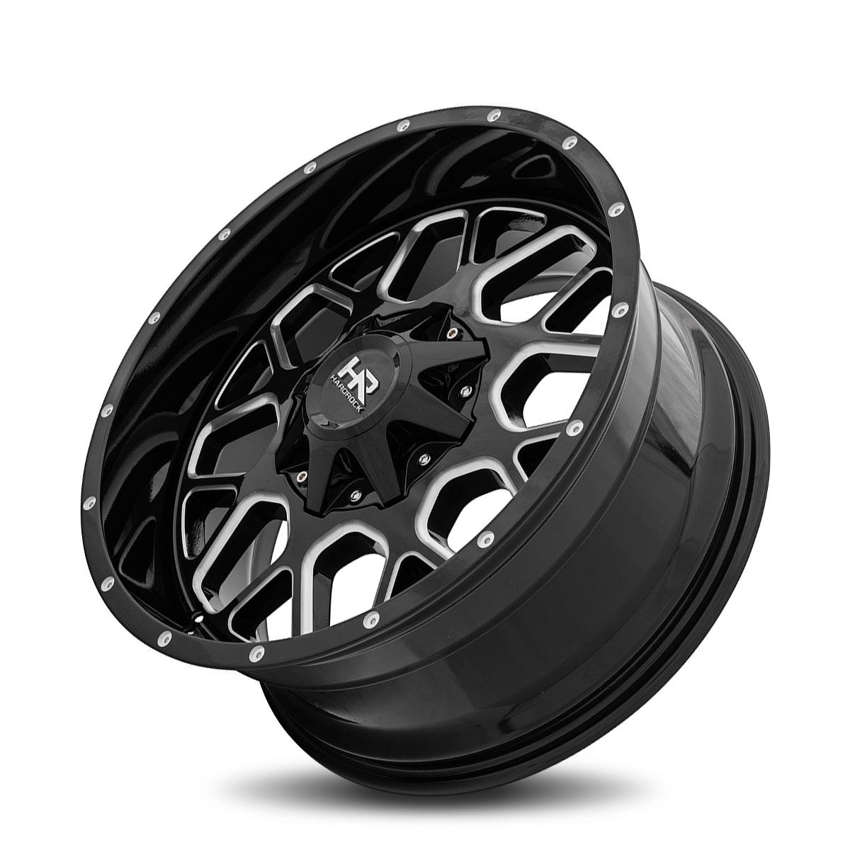 Hardrock Offroad H705 20x9 Gloss Black Milled