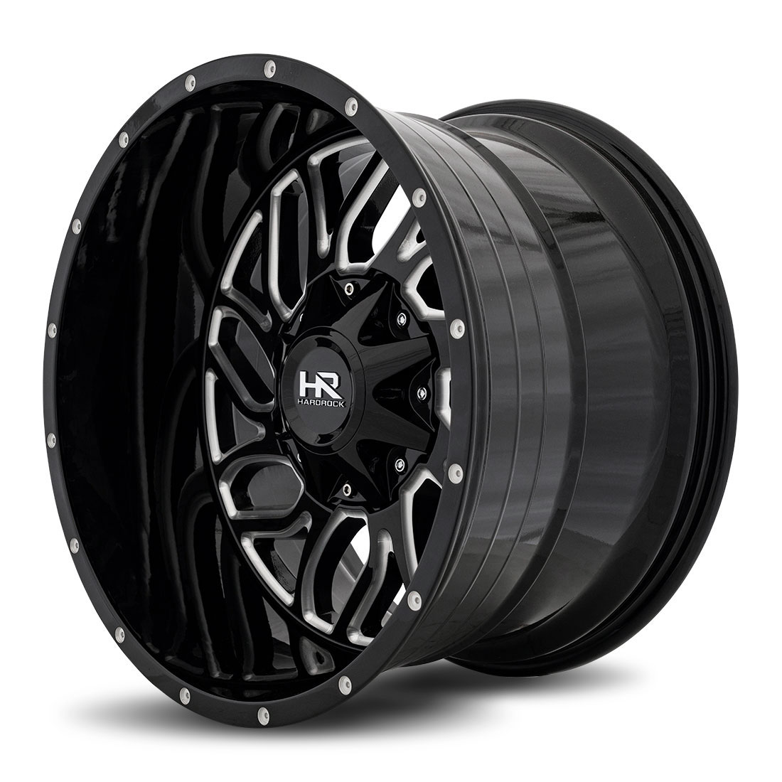 Hardrock Offroad Wheels H707 Destroyer - Gloss Black Milled - 20x12