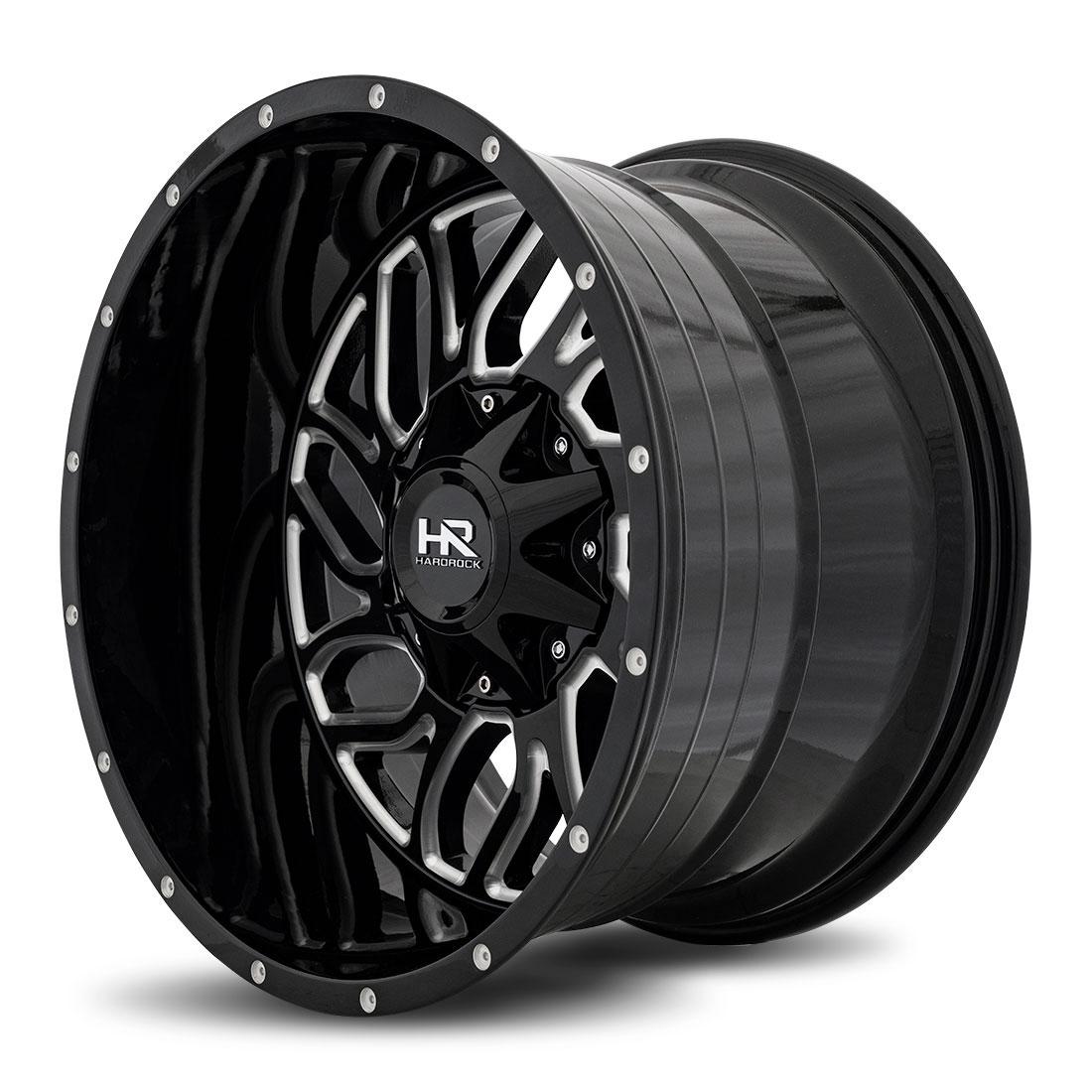 Hardrock Offroad Wheels H707 Destroyer - Gloss Black Milled - 20x12