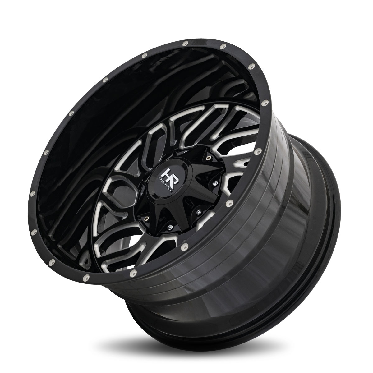 Hardrock Offroad H707 22x10 Gloss Black Milled