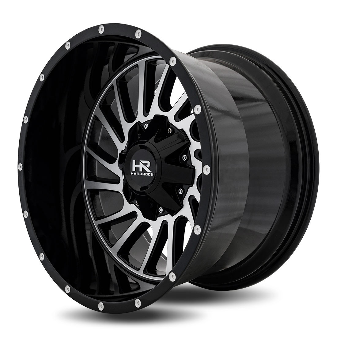 Hardrock Offroad Wheels H708 Overdrive - Black Machine Face - 20x12