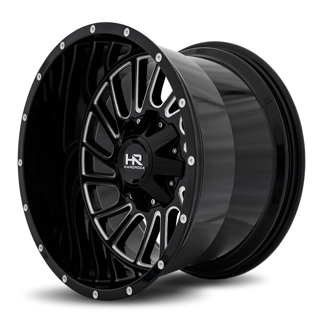 Hardrock Offroad Wheels H708 Overdrive - Gloss Black Milled - 20x12