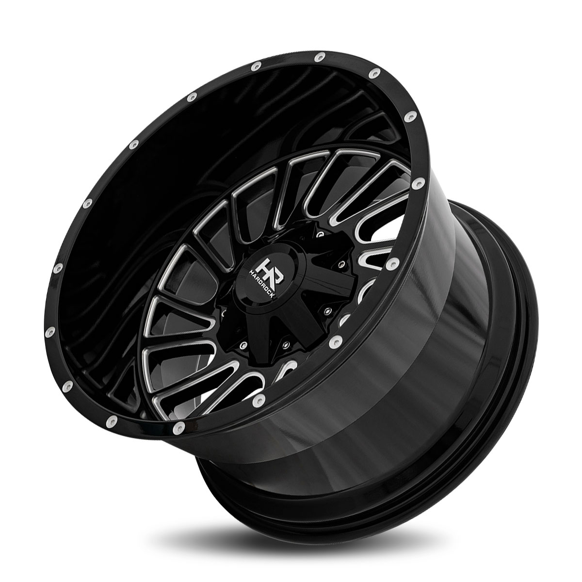 Hardrock Offroad H708 22x10 Gloss Black Machine Face