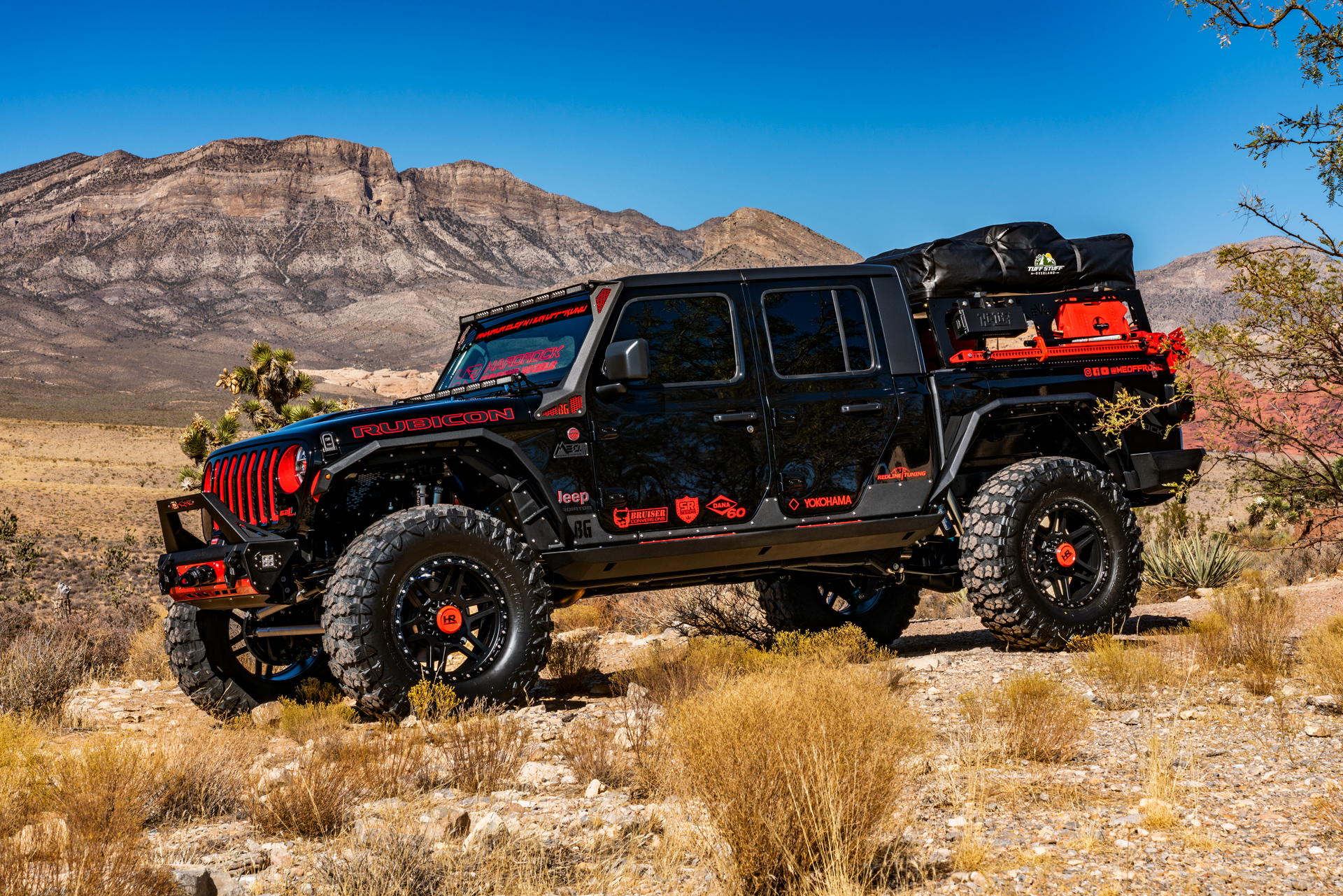 H103 20x9 Hardrock Offroad Wheels 2020 SEMA LS3 Swapped Jeep Gladiator Rubicon