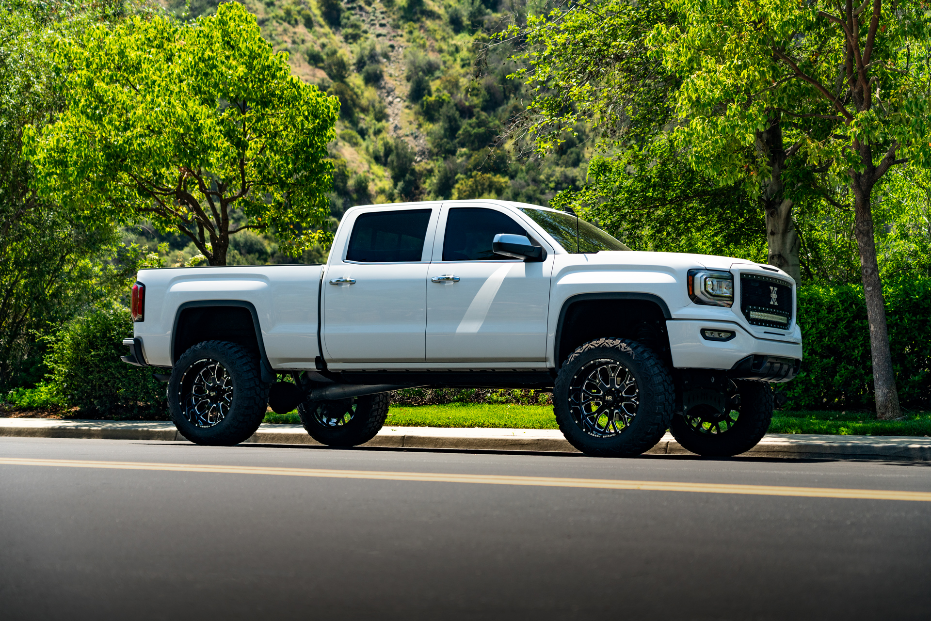 H801 22x12 Famous Forged Hardrock Offroad Wheels Lifted GMC Sierra