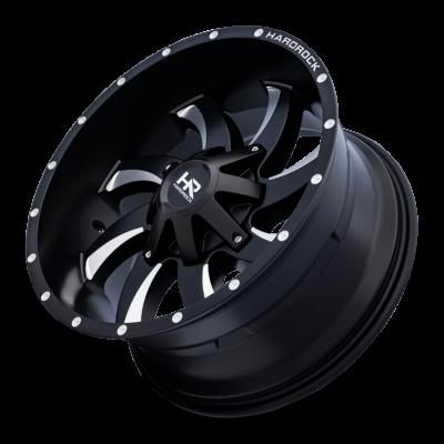 Hardrock H701 Devious 20x10 Satin Black Milling