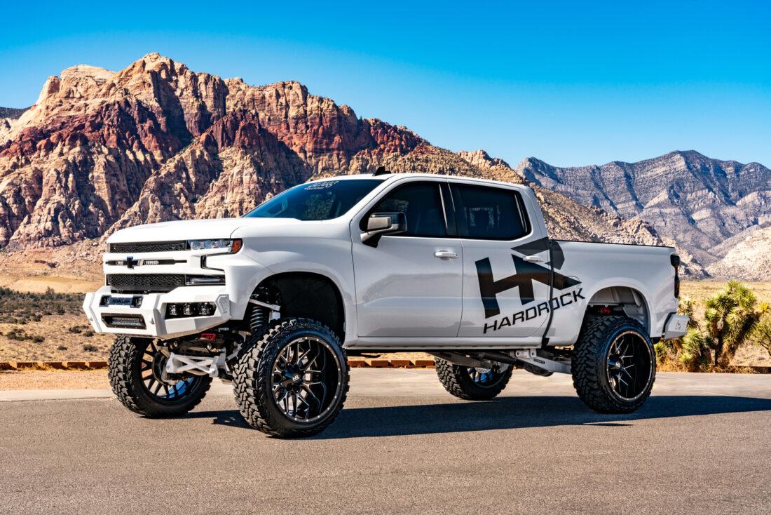 Hardrock Offroad Wheels 24x14 åçH700 Afflictions Lifted 2019 Chevrolet Silverado SEMA 2019
