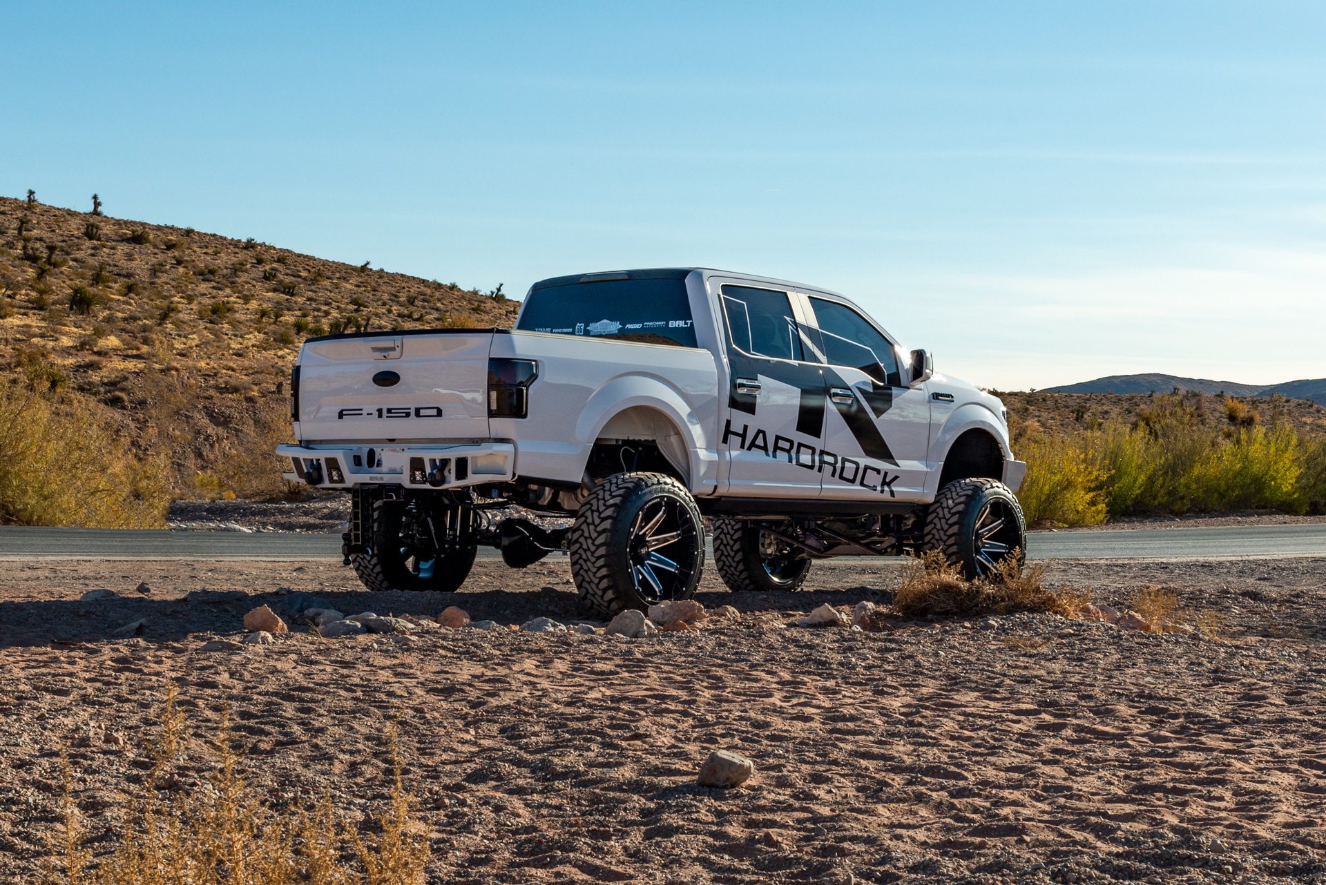 H502 Xposed PainKiller 24x14 Hardrock Offroad Wheels Lifted Ford F-150 SEMA 2019