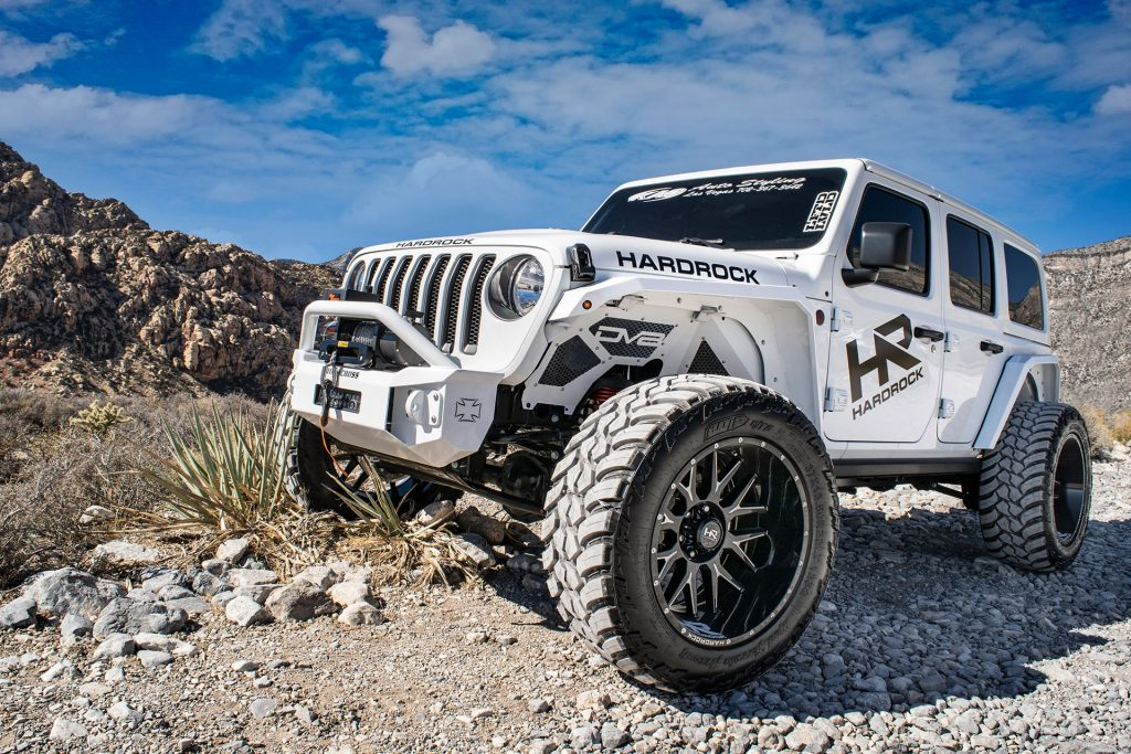 Hardrock H500 Affliction Xposed – White Jeep Wrangler – SEMA Build