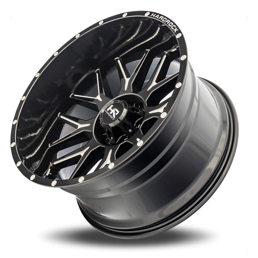 Hardrock H500 Affliction Xposed Wheel in Gloss Black with Milling - 22x12