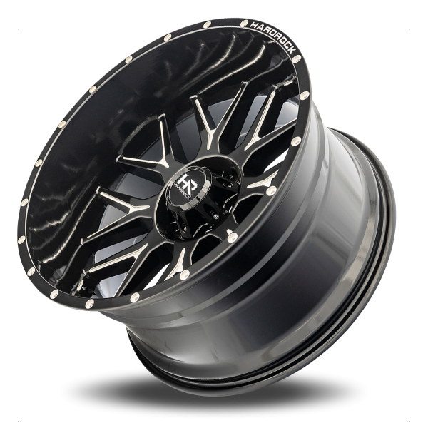 Hardrock H500 Affliction Xposed Wheel in Gloss Black with Milling – 22×12