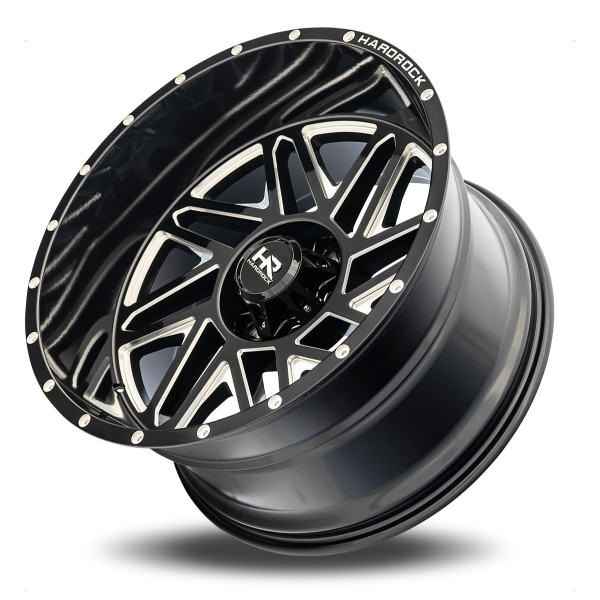 Hardrock H501 Bones Xposed Wheel in Gloss Black with Milling – 22×12