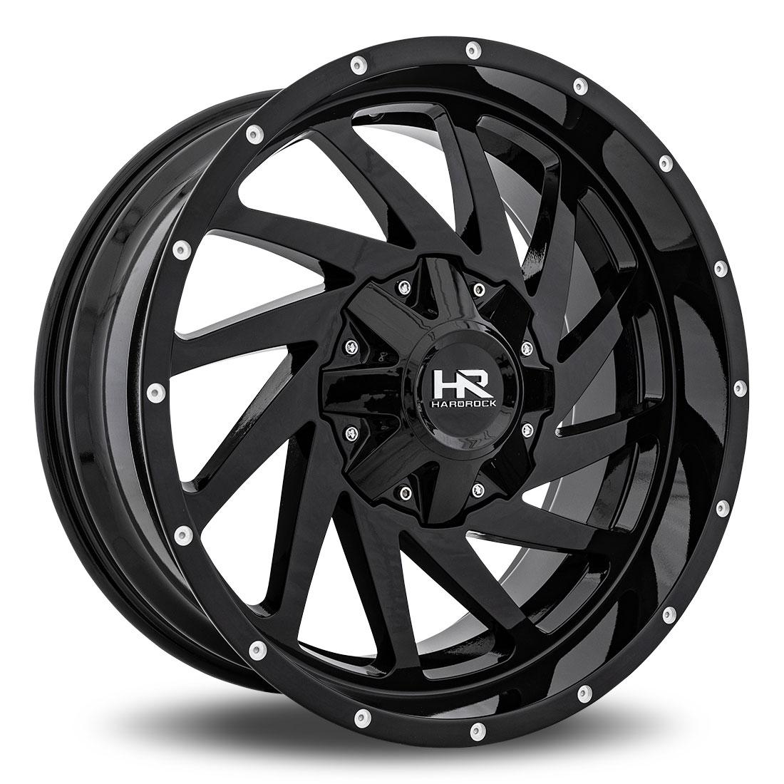 Hardrock Offroad Wheels H704 Crusher  Black Dimples 20x9