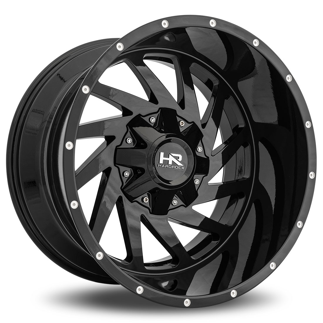 Hardrock Offroad Wheels H704 Crusher  Gloss Black Dimples 20x12