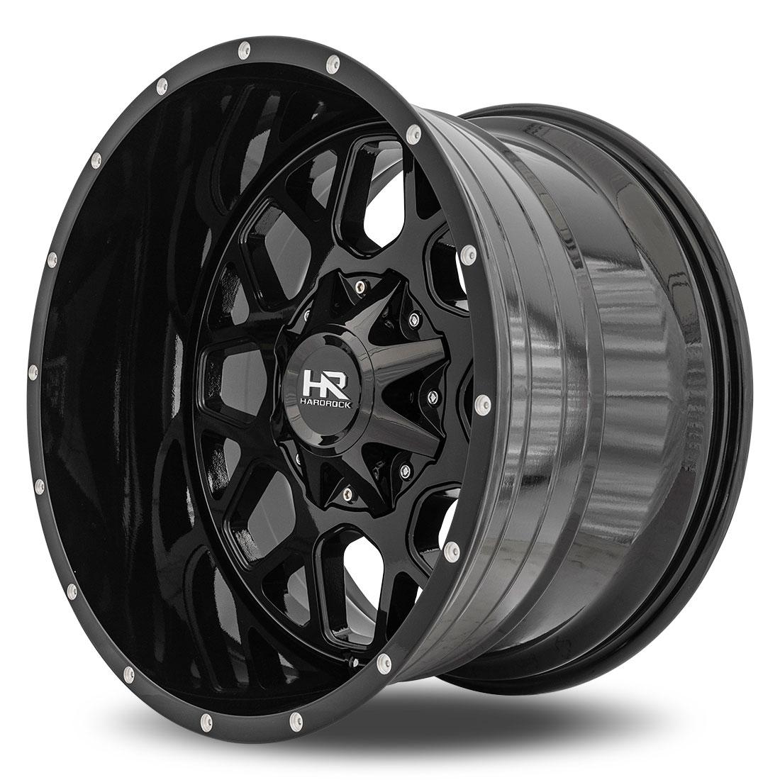Hardrock Offroad Wheels H705 Gunner  20x12 Gloss Black Dimples