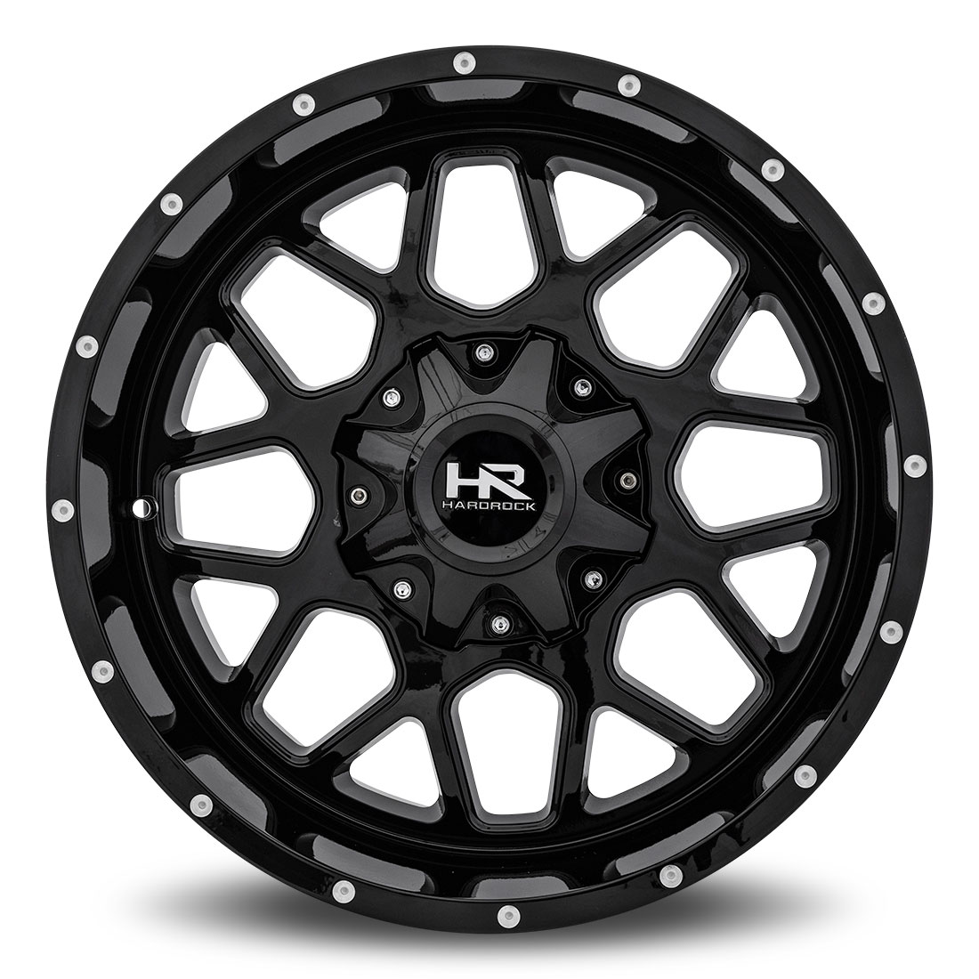 Hardrock Offroad Wheels H705 Gunner  Black Dimples 20x10